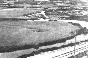Fábrica de La Luisiana, en la confluencia de los ríos Virga y Ebro
