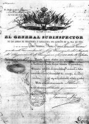 Cartilla de baja del servicio militar de Eustasio Díez López