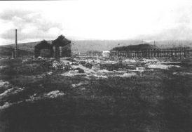 Construcción de los talleres. 1 de julio de 1919