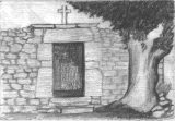 Perspectiva del cementerio de La Hoz de Abiada