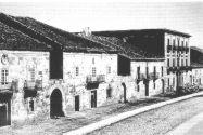 Vista de la calle Real de Reinosa  hacia 1850. W. Atkinson
