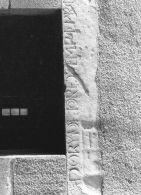 Fragmento de inscripción fundacional de la ermita de la Piedad en Sta. María