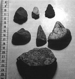 Utensilios paleolíticos de las terrazas del Ebro