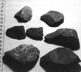 Utensilios paleolíticos de la zona de Riaño