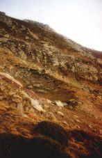 Pequeña morrena ubicada al pie del Cueto de la Horcada