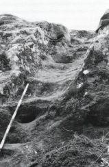 Figura 3. Escalera tallada en la roca