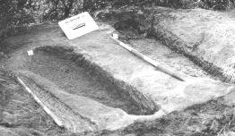 """Figura 6. Campaña de 1999. Tumbas III y IV del sector """"A"""" al finalizar la excavación"""
