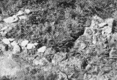 Restos arruinados de una cabaña en el lugar de El Payo