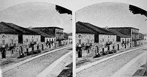 Toma fotogramétrica del Camino a su paso por la villa, realizado por Atkinson hacia 1855