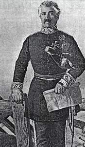 El General Castñeda, según un dibujo de Ubieta