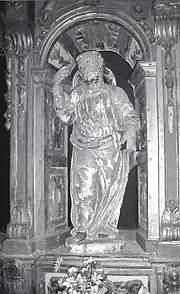 Imagen de Santiago, hoy en la  Iglesia de  San Román de Orzales
