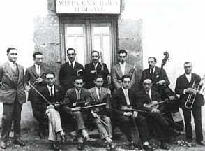 Orquesta de la Agrupación Artística Reinosana. 1927