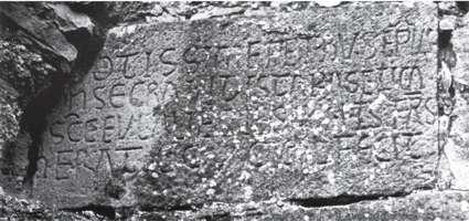 Lápida de consagración en Somballe