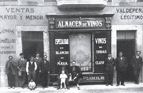 """La actual bodega de """"Pepe de los vinos"""", en una imagen de 1927"""