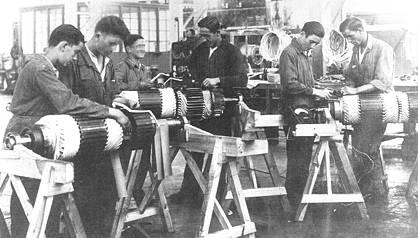 Bobinadores de Cenemesa en los años 30