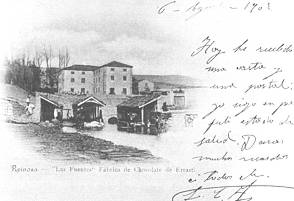 """""""Las Fuentes"""" fábrica de chocolate de Errazti. 1902"""