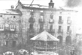 Incendio del Ayuntamiento de Reinosa el martes 16 de febrero de 1932