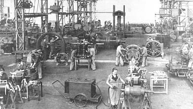 Talleres de Cenemesa (Constructora Nacional de Maquinaria Eléctrica). 1932
