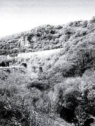 Ubicación y restos de la ferrería de Pesquera. Fotografía de la autora