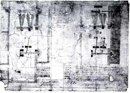 Plano de la ferrería de Horna. 1780