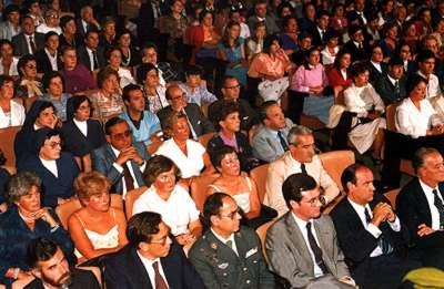 Gala de las Justas Literarias de 1981 en el Teatro Principal