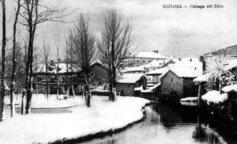 Paisaje del Ebro, tras una nevada en 1911