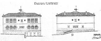 Plano de las fachadas laterales