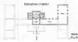Plano de la planta de sótano y cimientos