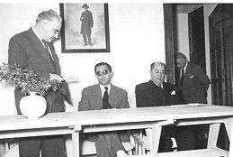 Vicente González, José Pérez Bustamante y Antonio García Bellido