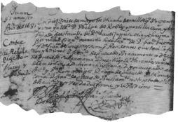 Partida de nacimiento de D. Juan Francisco Güemes y Horcasitas