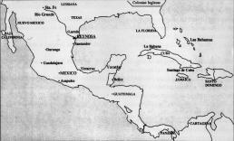 Territorios de Nueva España en el s. XVIII
