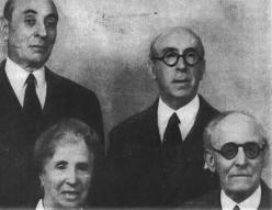 Elisa, Ramón, Rodrigo y Alberto Sánchez Díaz