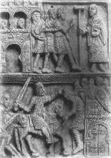 Marfil del arca de reliquias de San Millán (siglo XII)