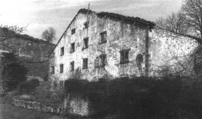 Ferrería y harinera de Santiurde, recientemente destruida