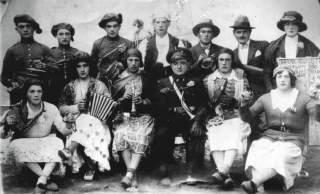 Comparsa de carnaval. Monegro 1918