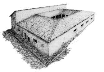 Reconstrucción  ideal de la casa de Los Morillos