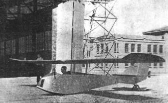 Planeador construido por el Sr. Viana