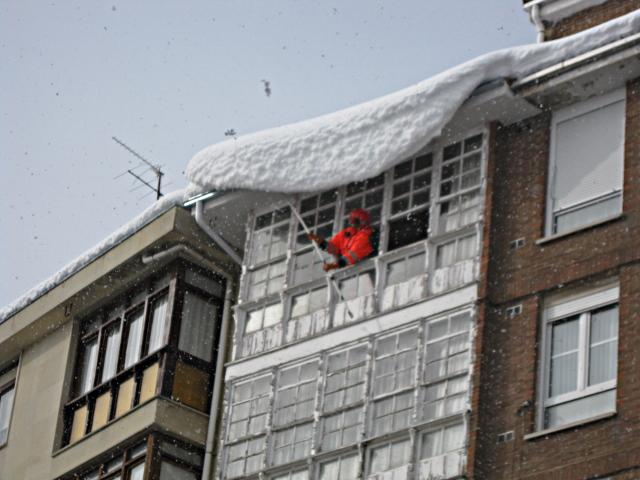 en el tejado